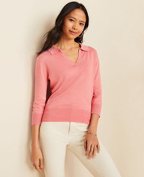Collared V-Neck Sweater