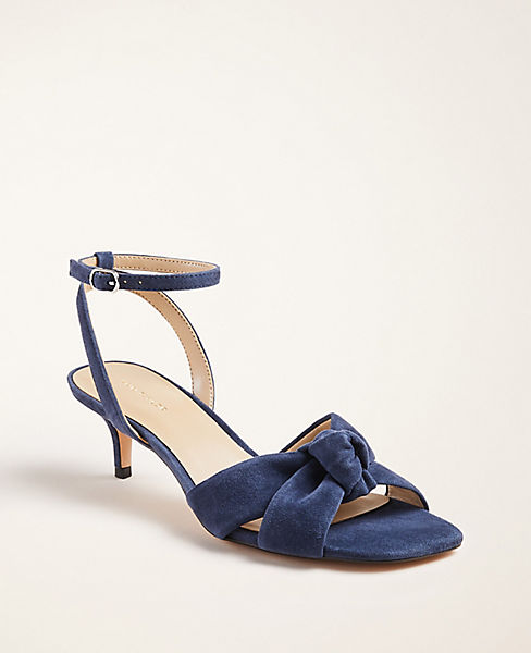 Ann Taylor Olenna Suede Knot Slingback Sandals