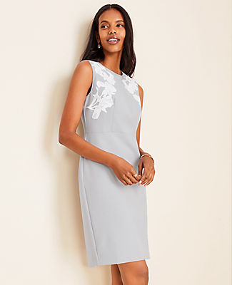 Luxe and endlessly versatile, our rich doubleweave stays polished from boarding call to boardroom. Jewel neck. Sleeveless. Hidden back zipper with hook-and-eye closure. Back vent. Lined.