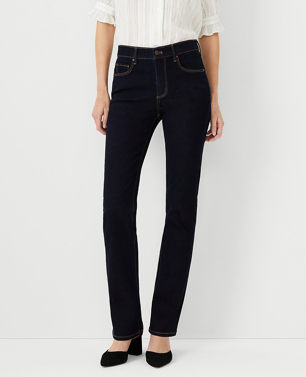 Curvy Sculpting Pockets Slim Boot Cut Jeans in Classic Rinse Wash