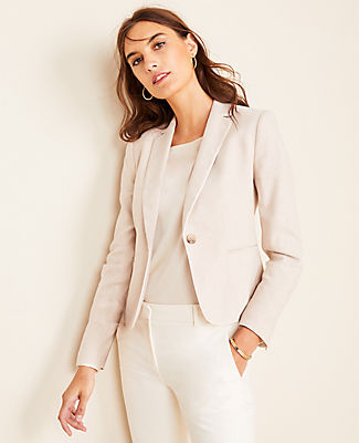 Ann Taylor THE TALL NEWBURY BLAZER IN HERRINGBONE