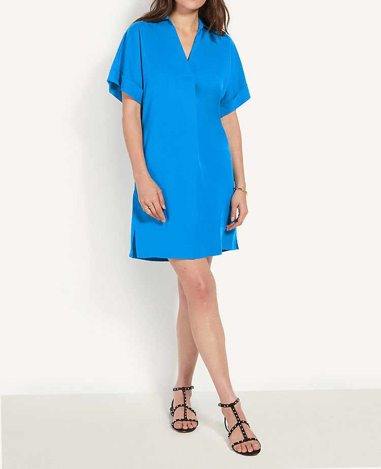Collared Popover Shift Dress