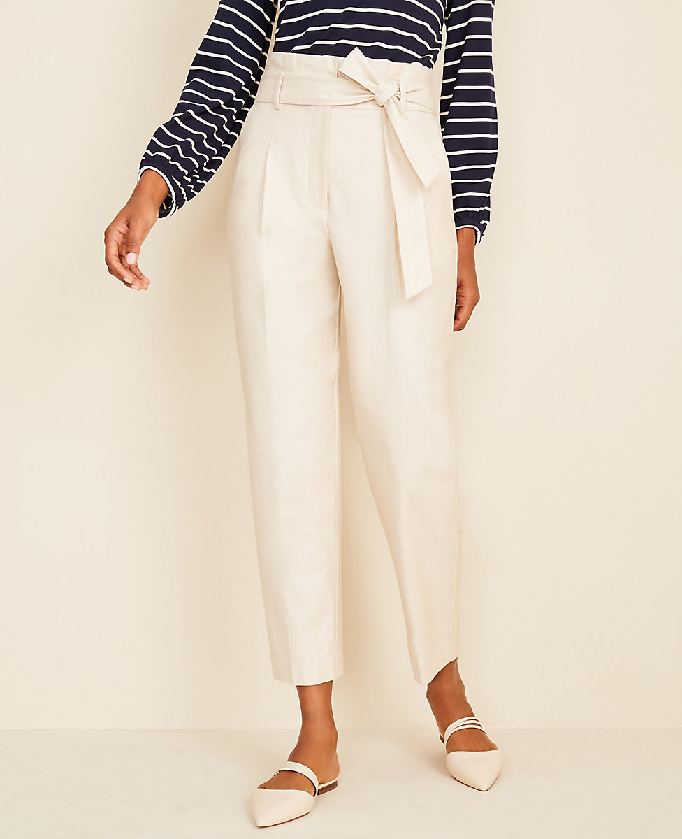 The Petite Belted Paper Bag Pant