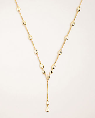 Metallic Nugget Lariat Necklace