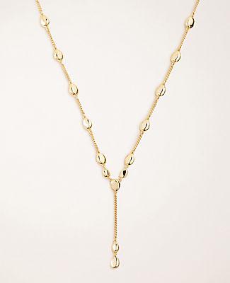 Metallic Nugget Lariat Necklace