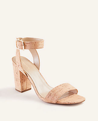 Our cork block heel sandals are an instant style boost - and pair well with just about everything. Open toe. Adjustable buckle at side ankle for secure fit. Padded footbed for complete comfort. 3 1/4\