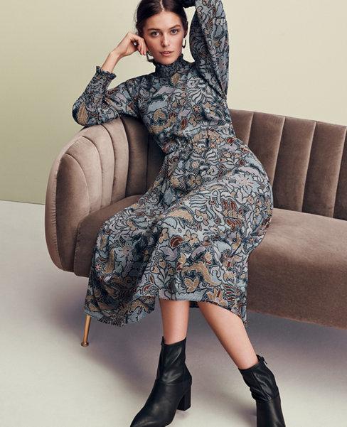 Floral Smocked Maxi Dress | Ann Taylor