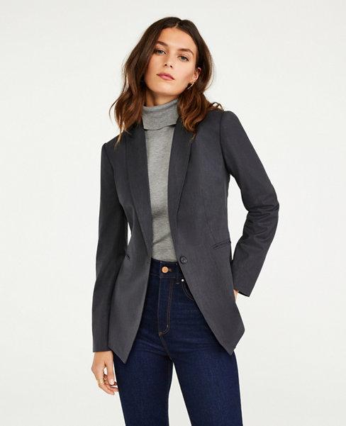 앤테일러 Ann Taylor The One Button Blazer in Tropical Wool
