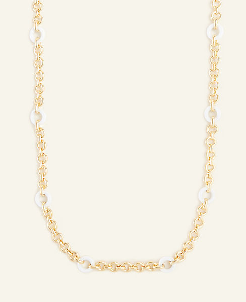 Linked Metallic Station Necklace