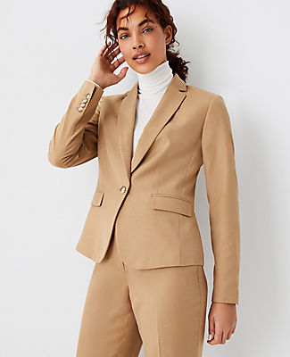 Ann Taylor The One-button Blazer In Deep Fawn