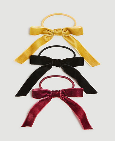 Velvet Bow Hair Tie Set