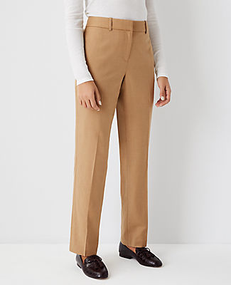 Ann Taylor The Straight Pant - Classic Fit In Deep Fawn