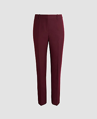 The perfect wear-with-all pants - done in refined plain weave for a smooth, streamlined fit. Front zip with double hook-and-bar closure. Front off-seam pockets. Back besom pockets. Lined. Ann Taylor The Petite Straight Pant - Classic Fit