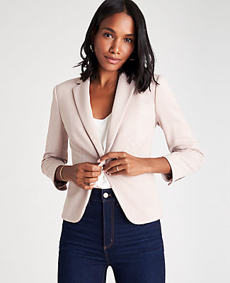 Ann Taylor THE TALL NEWBURY BLAZER IN PIPED HERRINGBONE