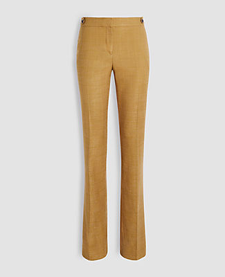 Ann Taylor Straight pants THE PETITE STRAIGHT PANT IN GLEN PLAID - CURVY FIT