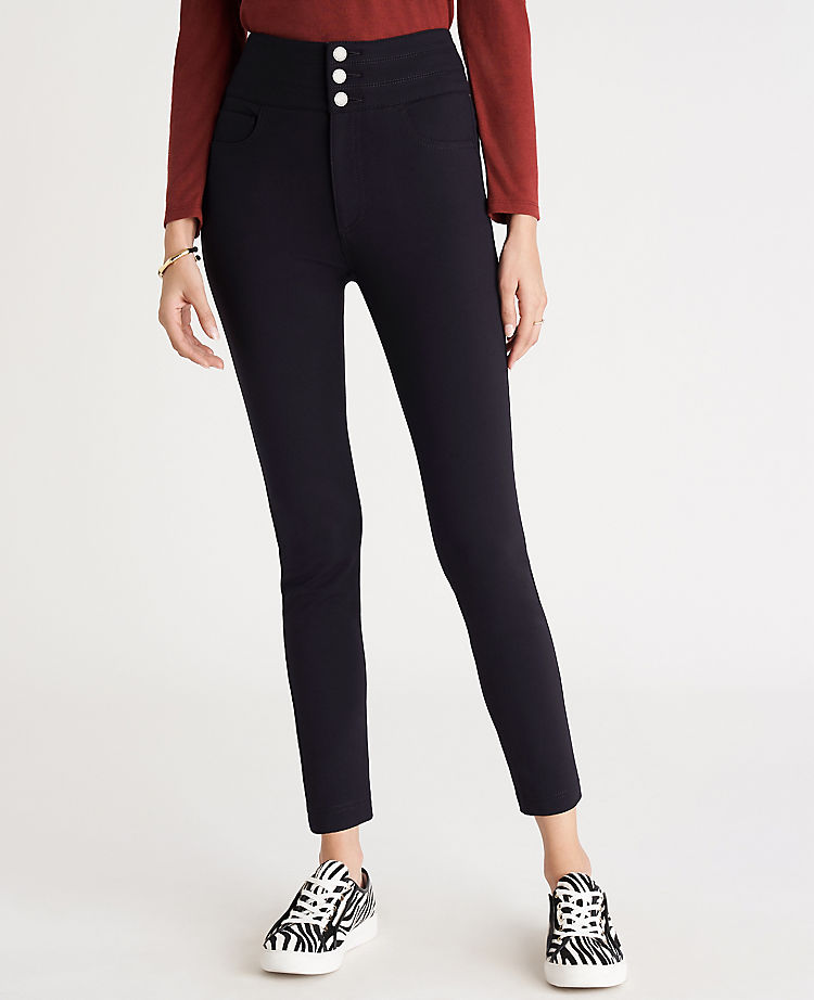 ANN TAYLOR: Five Pocket High Rise Triple Shank Pants $12.21