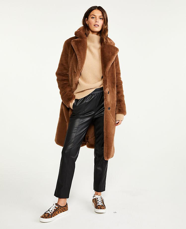 Ann Taylor Outerwear Women's Faux Fur Coat