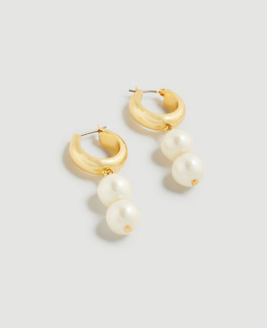 Pearlized Double Drop Earrings