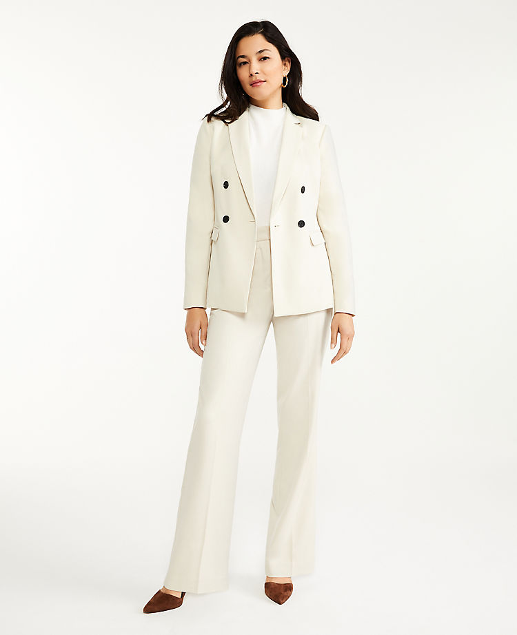 Ann Taylor Long Double Breasted Blazer