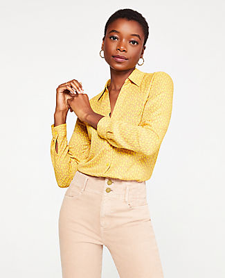 ANN TAYLOR SPOTTED ESSENTIAL SHIRT
