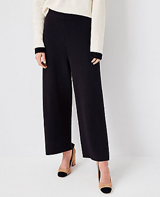 Ann Taylor The Wide Leg Sweater Pant In Black