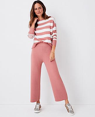 Ann Taylor The Wide Leg Sweater Pant In Cedar Rose