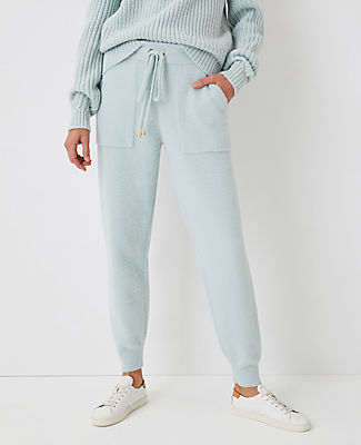 Ann Taylor The Sweater Jogger Pant In Tidal Mist