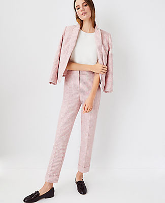 Ann Taylor The High Rise Ankle Pant In Pink Multi