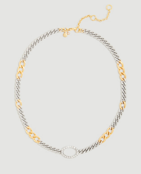 Anntaylor Mixed Metal Chain Necklace