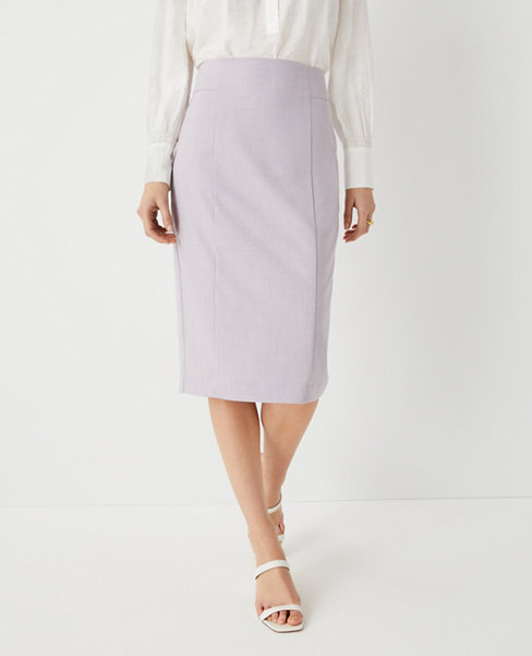 앤테일러 Ann Taylor The High Waist Seamed Pencil Skirt,Purple Multi