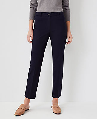 Ann Taylor The Cotton Crop Pant In Atlantic Navy