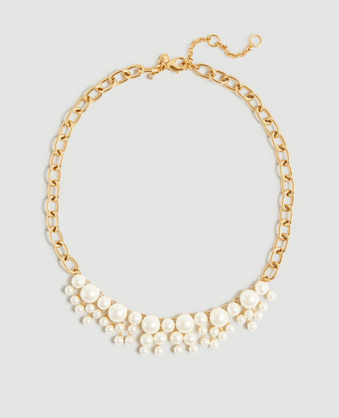 Anntaylor Pearlized Statement Necklace