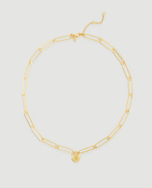 Anntaylor Heart Lock Necklace