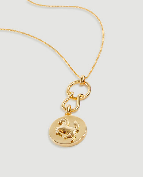 Anntaylor Equestrian Charm Pendant Necklace