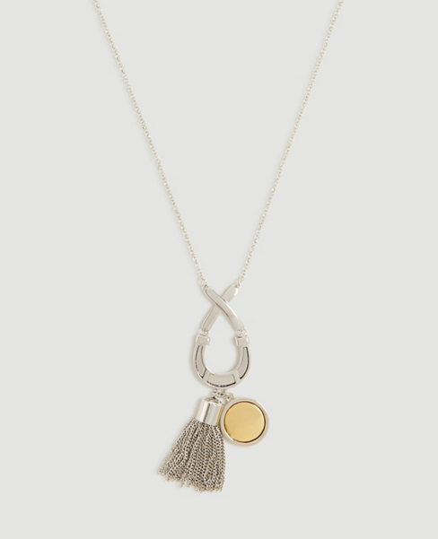 Anntaylor Equestrian Tassel Pendant Necklace