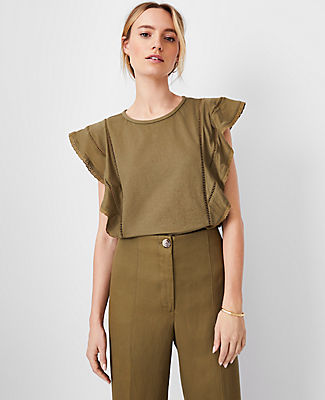 Ann Taylor 3/4 Ruched Sleeve Top (Copy)