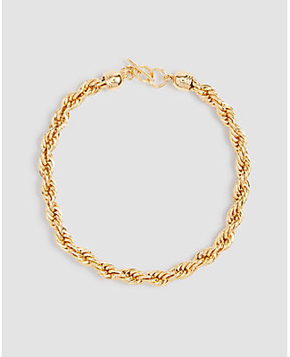 Ann Taylor Rope Chain Necklace In Gold
