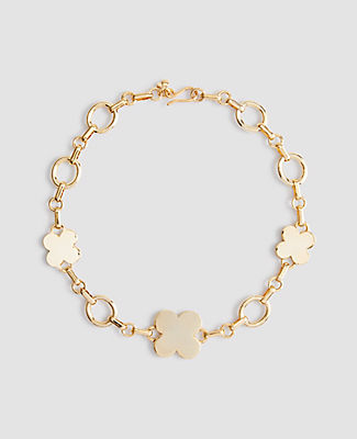 Ann Taylor Clover Necklace In Gold