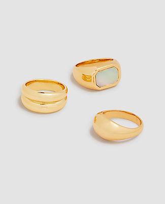 Ann Taylor Modern Ring Set In Gold