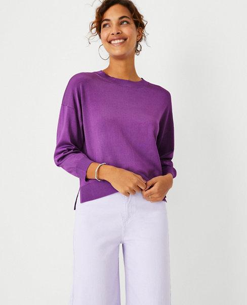 앤테일러 Ann Taylor Relaxed Drop Shoulder Sweater