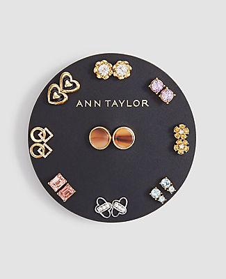 Ann Taylor Love Stud Earring Set In Multi