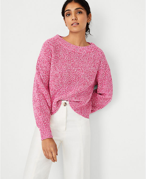 Ann Taylor Marled Relaxed Sweater
