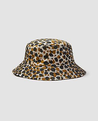 Ann Taylor Leopard Print Bucket Hat In Pattern