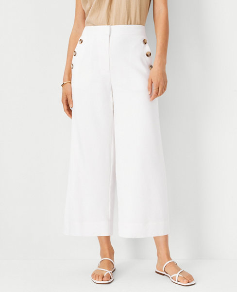 The Sailor Wide Leg Crop Pant in Linen Blend