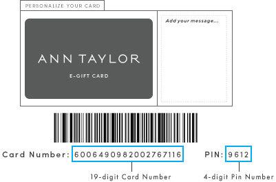 Gift Card Ann Taylor