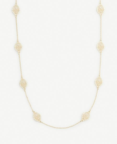 Ann Taylor Filigree Station Layering Necklace