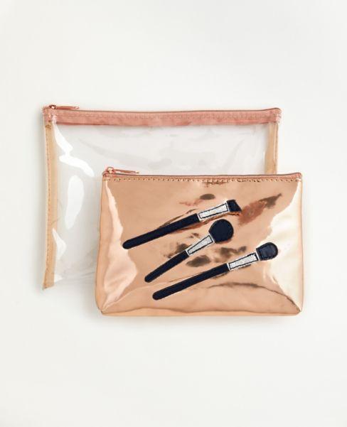 Ann Taylor Cosmetic Bag Set