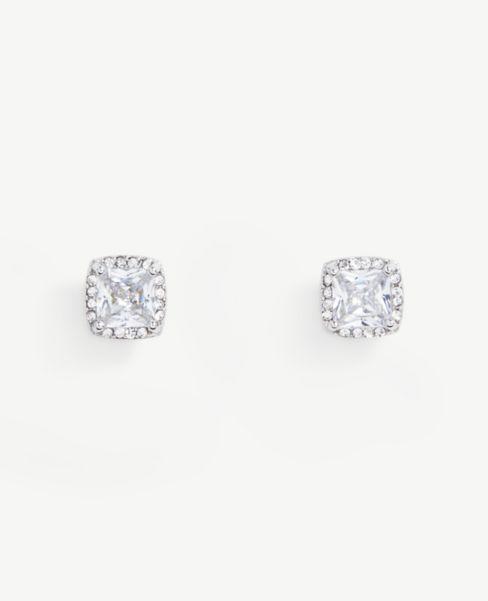Ann Taylor Pave Square Sparkle Earrings