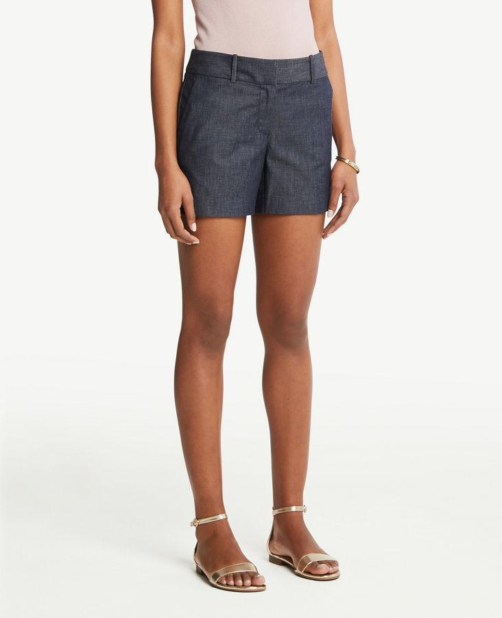 33f264f81c Polished Denim Shorts with 5 Inch Inseam