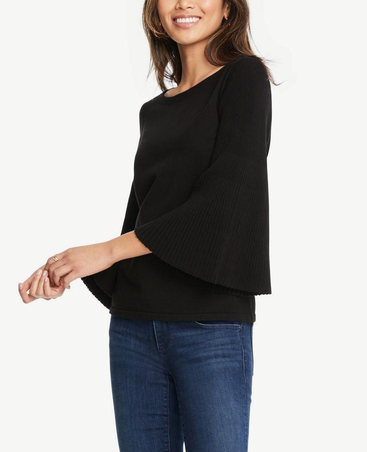 3ae90431a82 Pleated Flare Sleeve Sweater 0